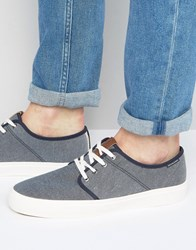 Jack And Jones Turbo Textile Plimsolls Navy