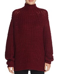 Signorelli Oversize Chunky Turtleneck Sweater Oxblood
