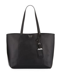 Prada City Calf Large Leather Shopping Tote Bag Black