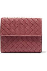 Bottega Veneta Intrecciato Leather Wallet Red