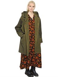 Y's Hooded Oxford Military Parka
