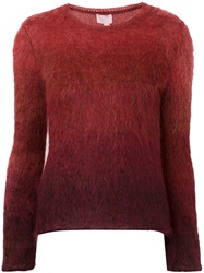 Giamba Gradient Sweater Red