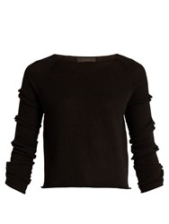 The Row Jian Bow Sleeved Cashmere Sweater Black