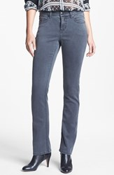 Petite Women's Liverpool Jeans Company 'Sadie' Straight Leg Supersoft Stretch Jeans Rinse