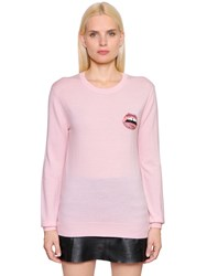 Markus Lupfer Embroidered Merino Wool Knit Sweater