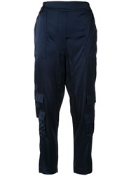 Manning Cartell Tapered Leg Satin Cargo Trousers 60