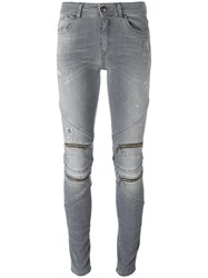 Just Cavalli Zipped Detailing Skinny Jeans Grey