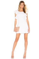 Bcbgeneration Ruffle Sleeve Mini Dress White