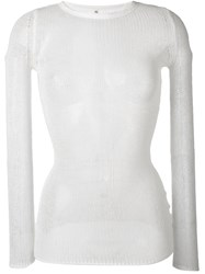 R 13 R13 Sheer Cashmere Top Women Cashmere M White