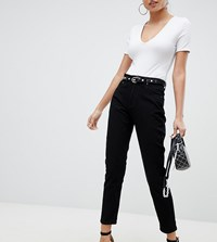 Prettylittlething Straight Leg Jean Black
