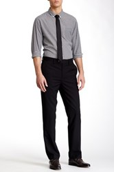 Louis Raphael Solid Herringbone Modern Fit Pant Black