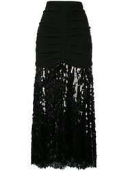 Rachel Comey Sequin Embellished Skirt Black