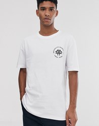Brooklyn Supply Co. Co Oversized T Shirt With Logo In White
