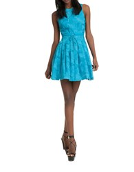 Plenty By Tracy Reese Floral Jacquard Fit And Flare Dress Maui Blue
