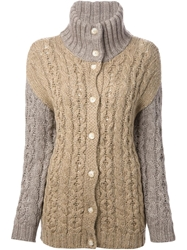 Diesel Cable Knit Cardigan Nude And Neutrals