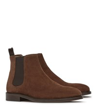 Reiss Tenor Suede Mens Suede Chelsea Boots In Brown