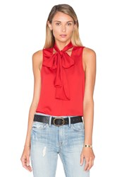 L'academie The 70'S Tank Blouse Red