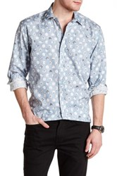 1 Like No Other Long Sleeve Woven Dot Classic Fit Shirt Blue