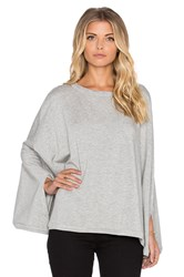 Heather Fleece Poncho Gray