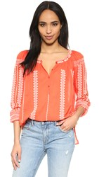 Gat Rimon Onett Blouse Orange Ecru