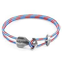 Anchor And Crew Project Rwb Red White Blue Delta Silver Rope Bracelet Silver Red White