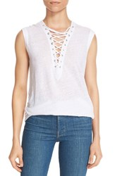 Women's Iro 'Tissa' Grommet Lace Up Linen Tank