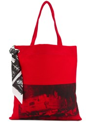 Calvin Klein 205W39nyc X Andy Warhol Foundation Tote Red