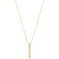 Ibb 9Ct Gold Cubic Zirconia Bar Drop Slider Pendant Gold