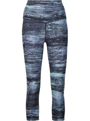 W.I.T.H. High Waisted Reversible Capris Multicolour
