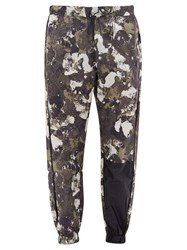 Marcelo Burlon Camouflage Print Technical Jersey Track Pants Grey Multi