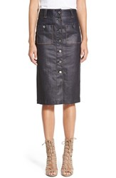 Women's 7 For All Mankind Coated Denim Pencil Skirt