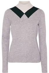 Derek Lam Stretch Cashmere And Silk Blend Turtleneck Sweater Gray