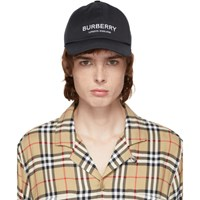 Burberry Black Casual Logo Cap