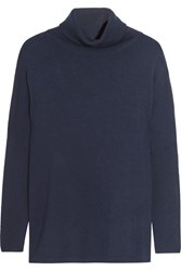 Allude Wool Turtleneck Sweater Midnight Blue