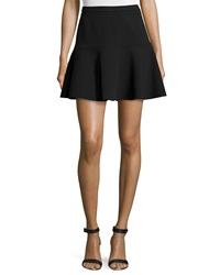 Halston Fit And Flare Mini Skirt Black