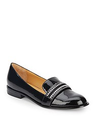 Badgley Mischka Sonoma Patent And Calf Hair Flats Black