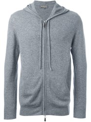 N.Peal Hooded Zip Sweater Grey