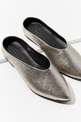 Urban Outfitters Uo Metallic Pointy Mule Silver