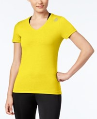 Reebok Speedwick Supremium V Neck T Shirt Yellow