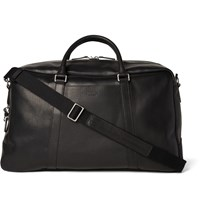 Shinola Signature Grained Leather Duffle Bag Black