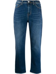 Haikure Cropped Denim Jeans Blue