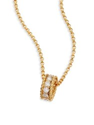 Roberto Coin Symphony Braided Diamond And 18K Yellow Gold Pendant Necklace
