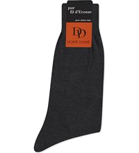 Dore Dore Knitted Cotton Socks Charcoal