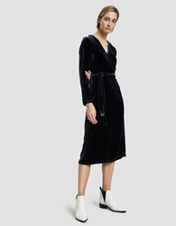 Just Female Davy Wrap Dress In Stormy Blue