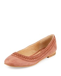 Frye Esther Nubuck Leather Ballet Flat Cognac