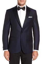 David Donahue Men's Big And Tall Reed Classic Fit Dinner Jacket Navy