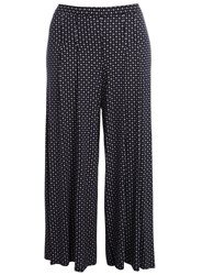 Evans Plus Size Navy Spot Wide Leg Trousers