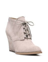 Franco Sarto Lennon Suede Wedge Booties Taupe