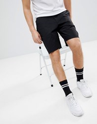Religion Skater Shorts In Black With Raw Edge