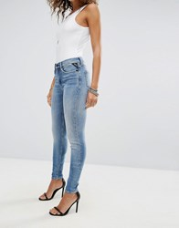 Replay Super High Waist Skinny Jean Light Wash Blue